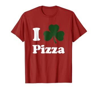 ac40c6a8c Image Unavailable. Image not available for. Color: St. Patrick's Day Shirt  Mens - Funny I Shamrock Pizza