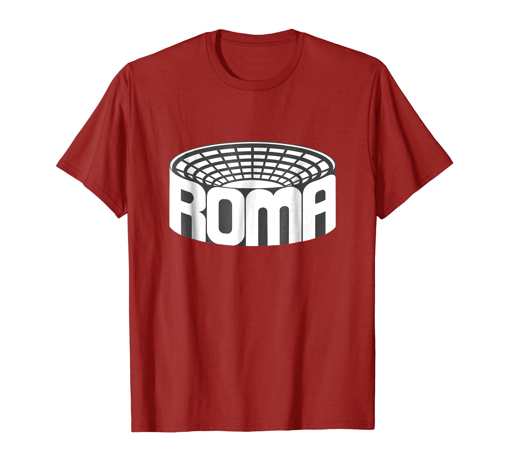 Roma Tshirt funny Colosseum Italia Typography Souvenir-Teechatpro