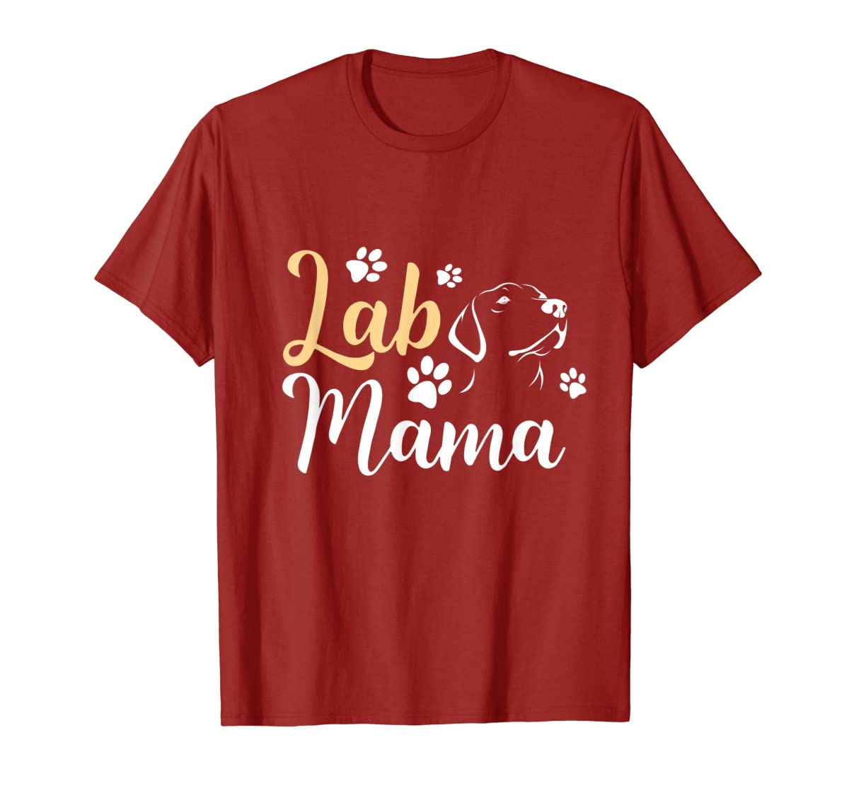 Lab Mama Labrador Retriever T-Shirt Cute Lover Dog Mothers-Men's T-Shirt-Red