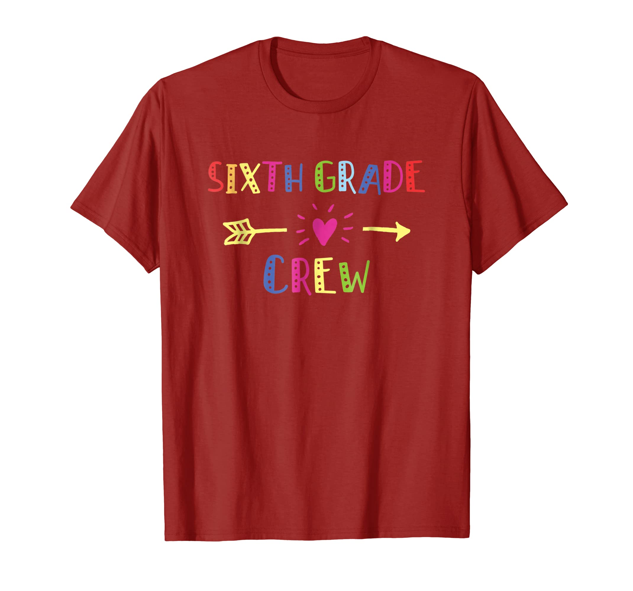 6th Sixth Grade Crew Shirt Happy First Day Of School Kids