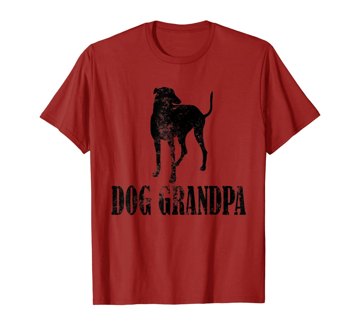 Father's Day T Shirt Greyhound Dog Grandpa T-Shirt Gifts-Men's T-Shirt-Red