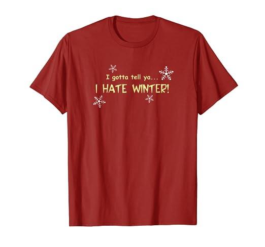 Amazon Com Cold Snow Winter Season Tee Shirt Clothing