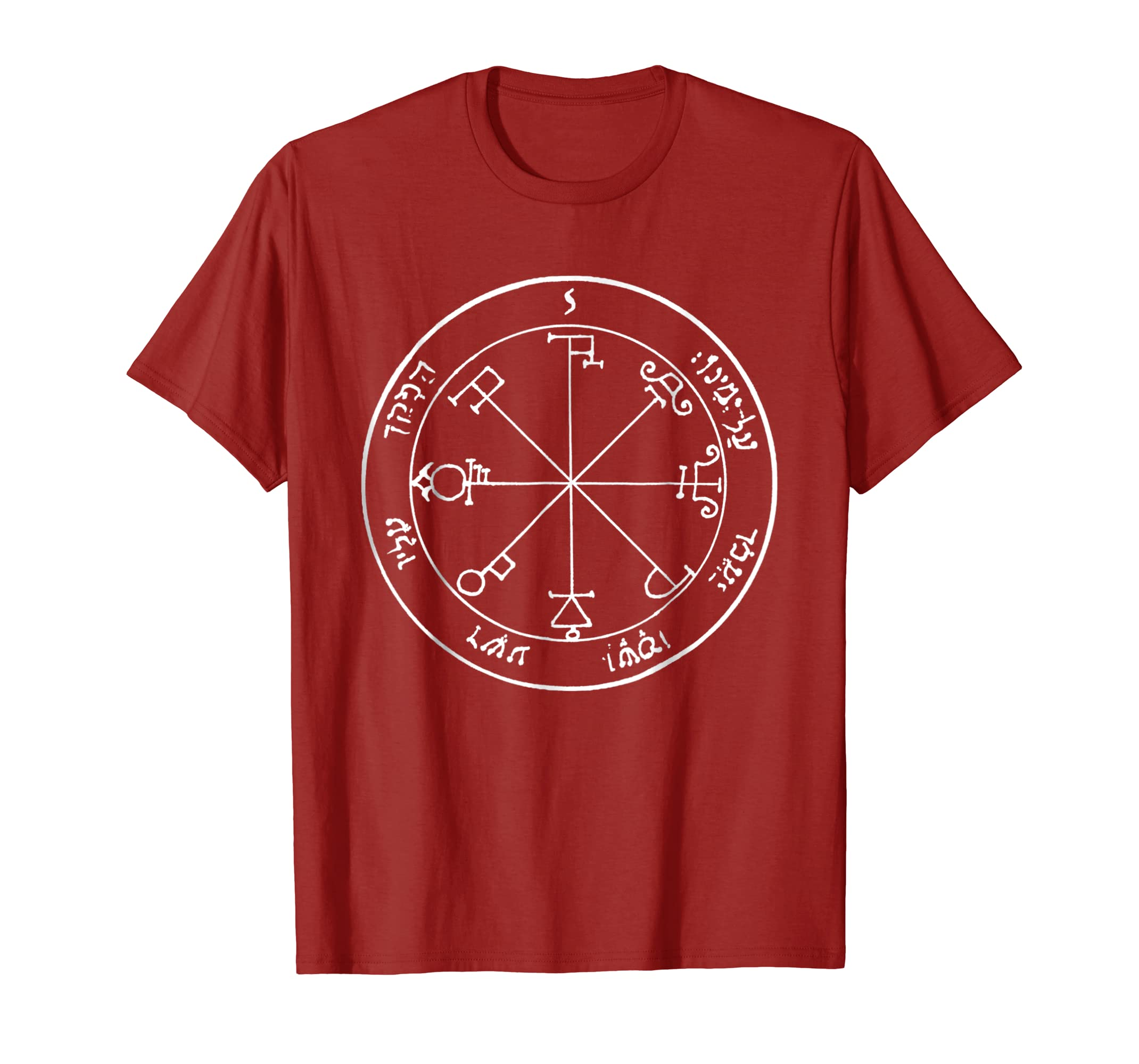 Solomons 6th Saturn Seal Foes Tormented by Demons T-shirt-fa