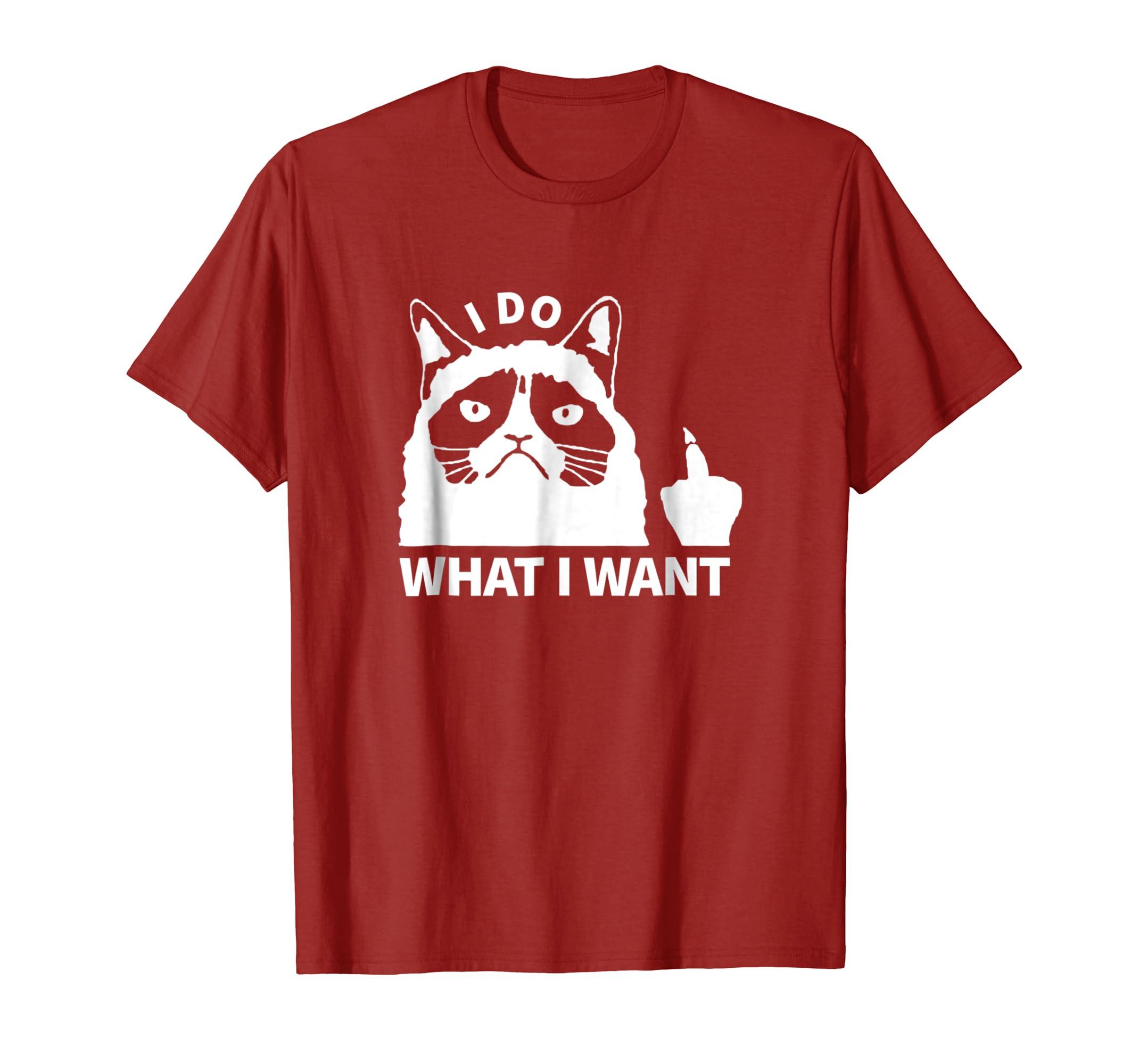 11177863 Amazon.com: I Do What I Want Shirt - Funny Cat Shirts - Cat Novelty Gift:  Clothing