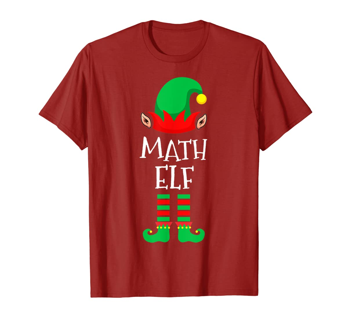 Math Elf - Funny School Teacher Christmas T-Shirt-Men's T-Shirt-Red