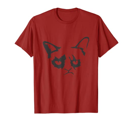 c40fdbb7c Image Unavailable. Image not available for. Color: Christmas Cat -  Halloween Grumpy Funny Loving Cat T-shirts