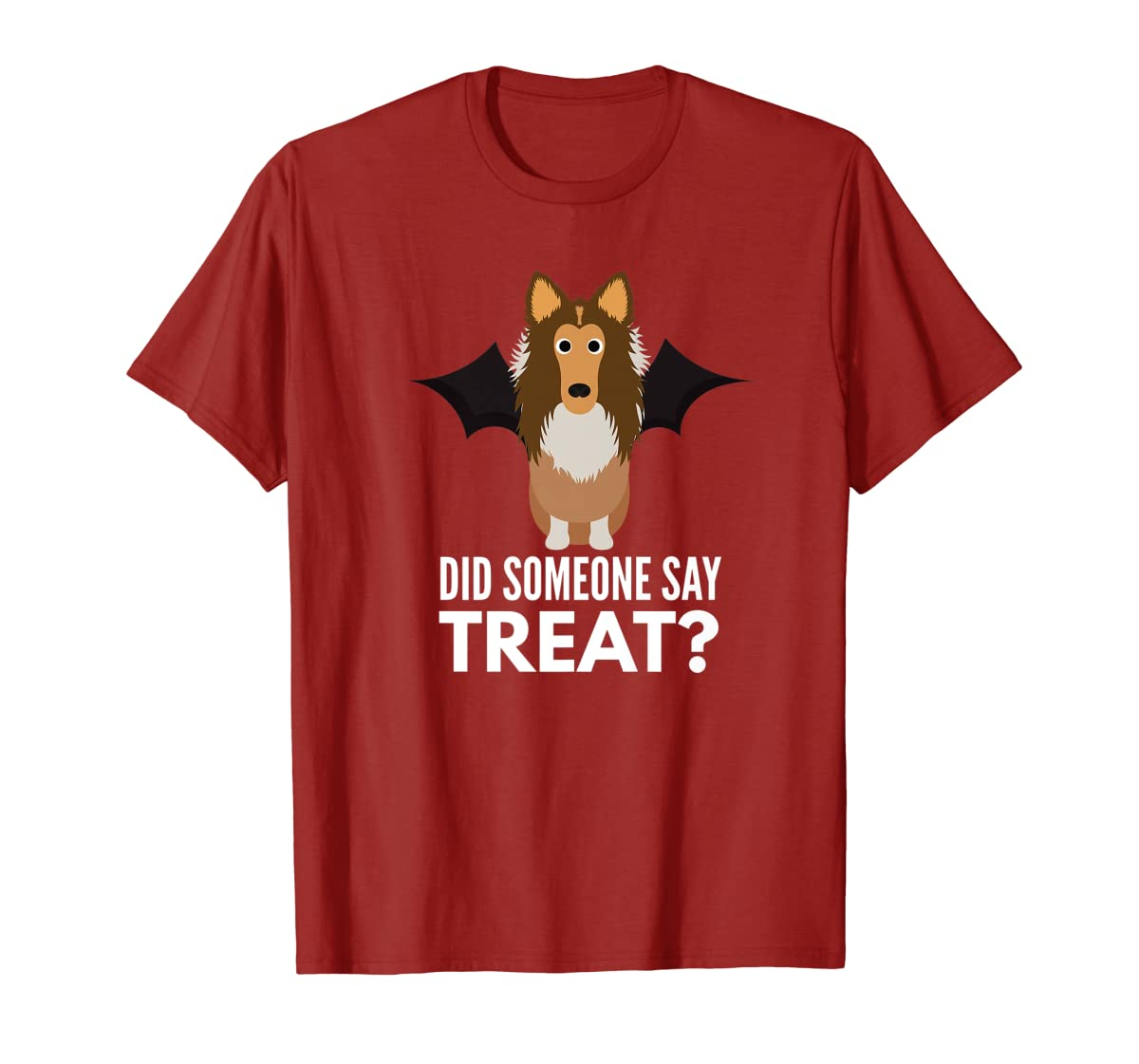 Rough Collie Halloween - Did Someone Say Treat? Premium T-Shirt-Men's T-Shirt-Red