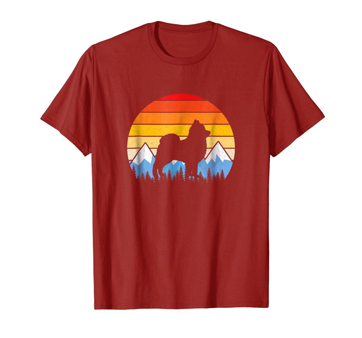 Vintage Retro Pomeranian Lovers Gifts Pomeranian T Shirts-Men's T-Shirt-Red