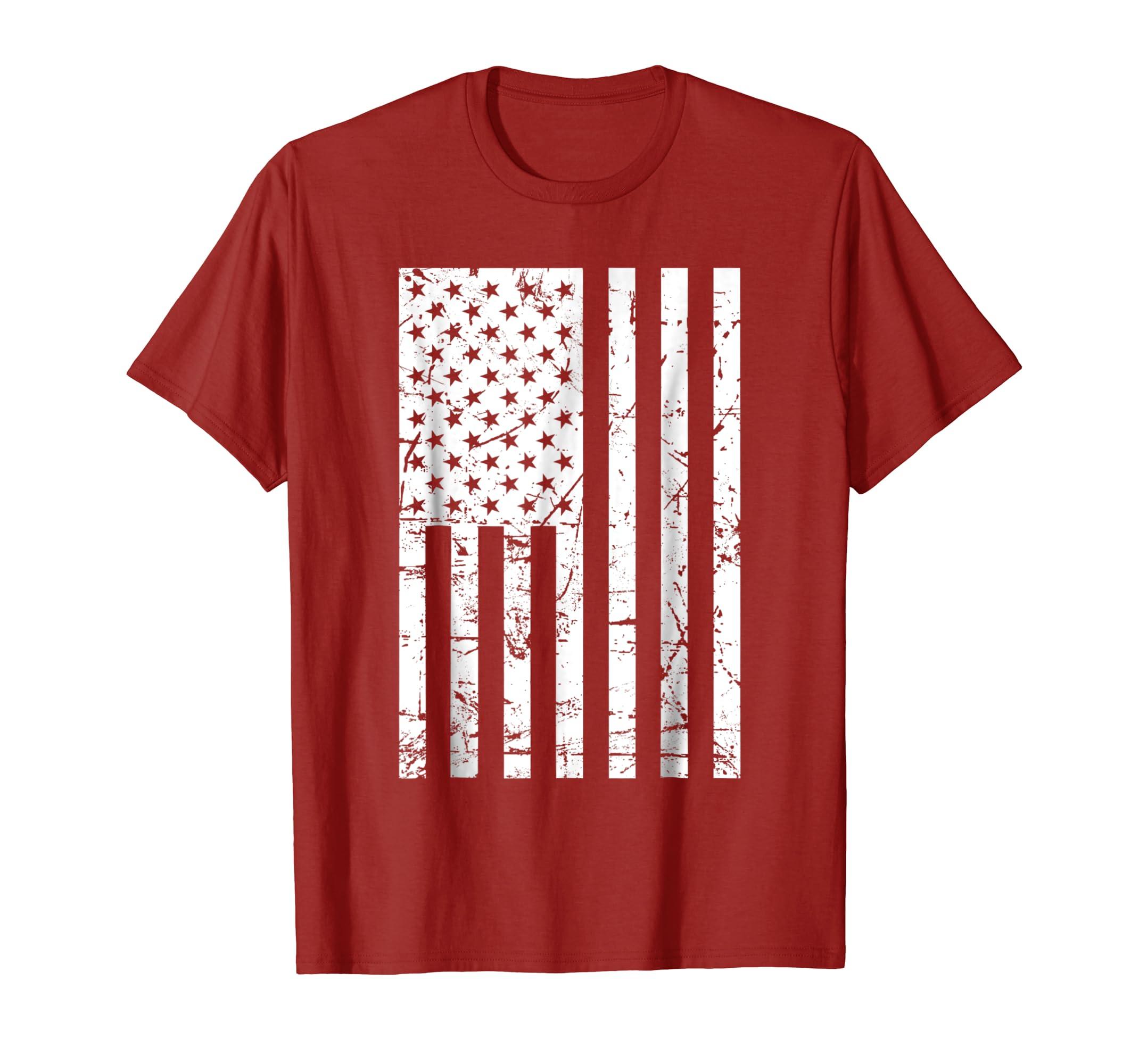 American Flag T Shirt: USA Patriotic Tshirt For Men & Women-azvn