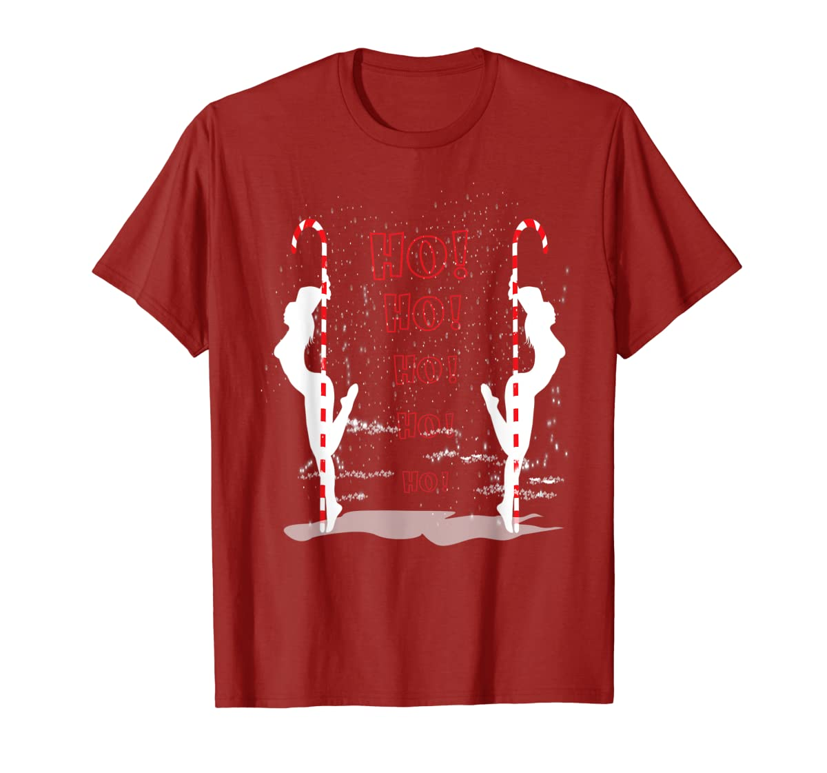 Funny Ugly Christmas Stripper Pole Dance Dancing Xmas Gift T-Shirt-Men's T-Shirt-Red