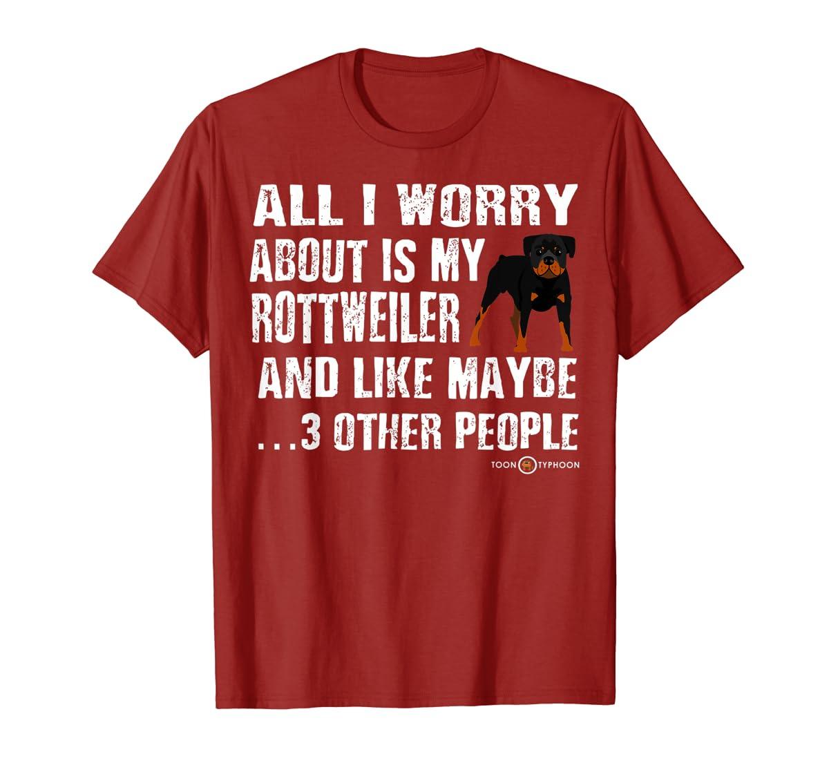 Rottweiler Shirt | All I worry about is my Rottweiler-Men's T-Shirt-Red