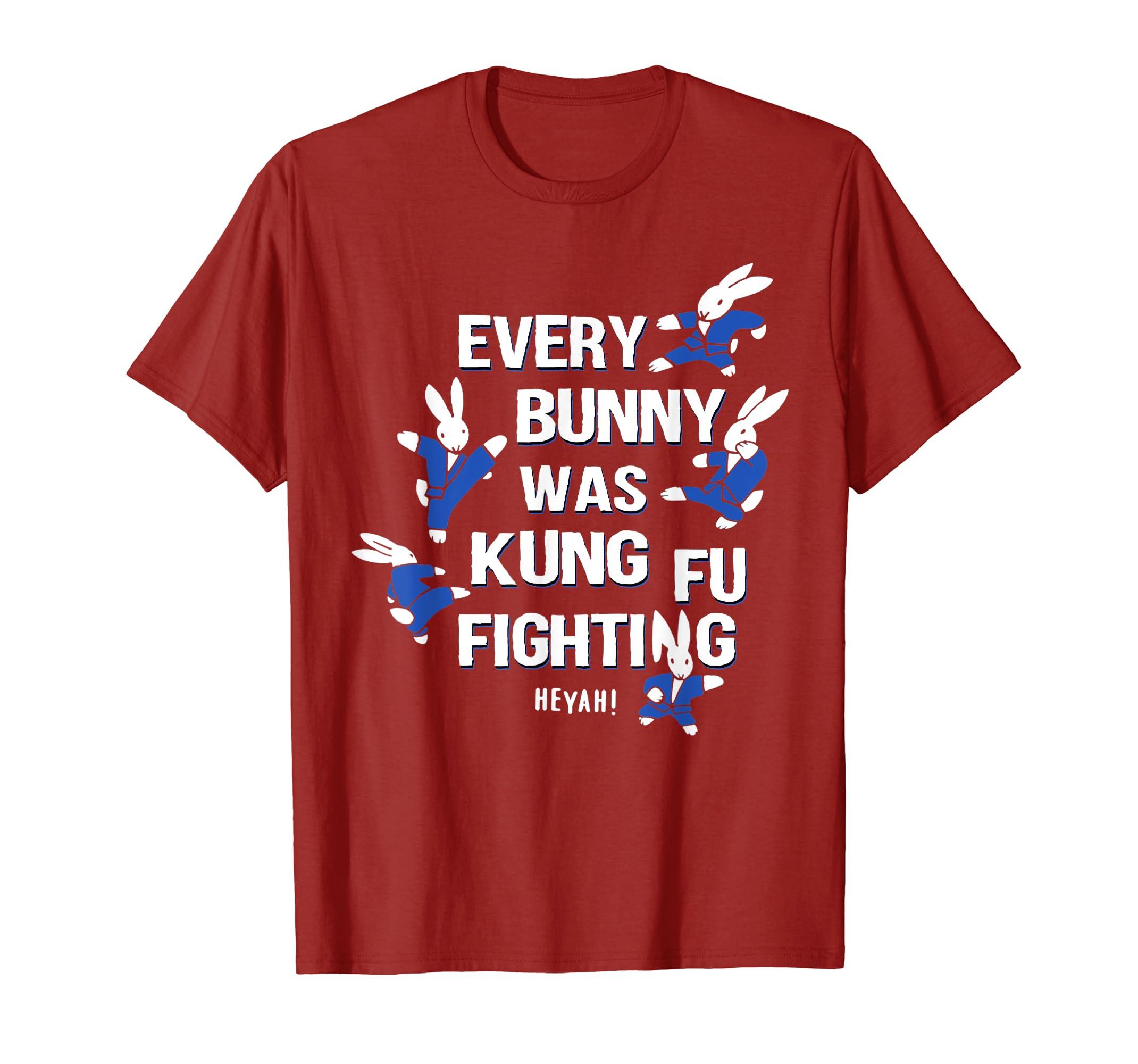 EVERY BUNNY WAS KUNG FU FIGHTING T-SHIRT-Yolotee