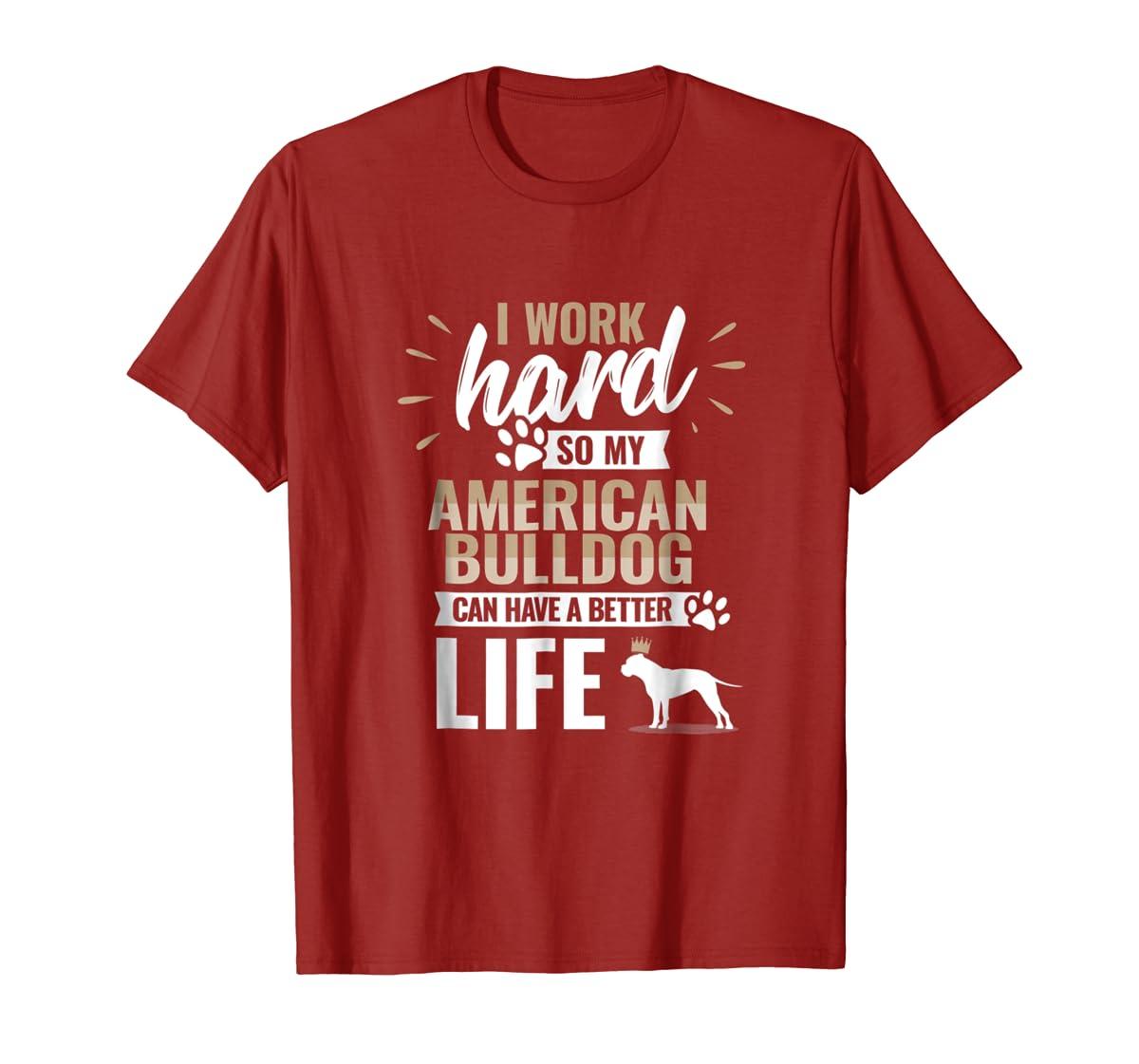 Cool Dog T-Shirt American Bulldog Owner Gift-Men's T-Shirt-Red