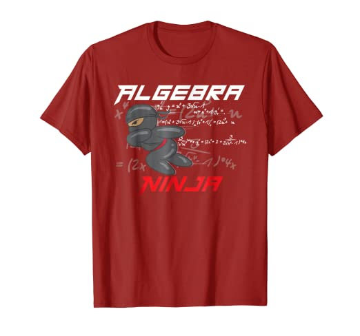 Amazon.com: Algebra Ninja Shirt | Cool I Love Mathematics T ...