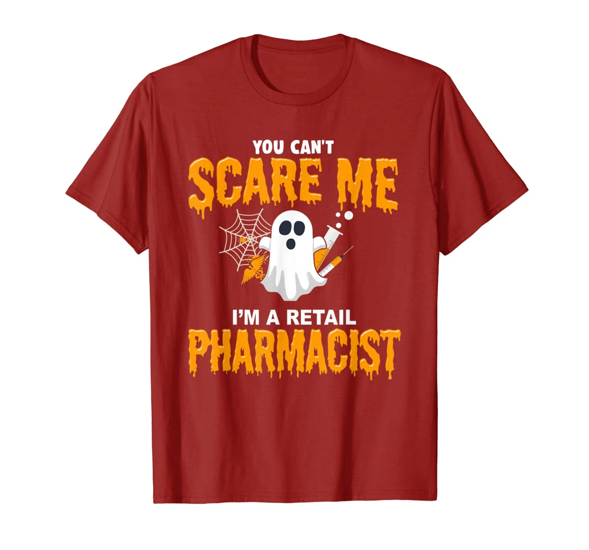 Halloween Costume Shirt I'm A Retail Pharmacist T-Shirt-Men's T-Shirt-Red