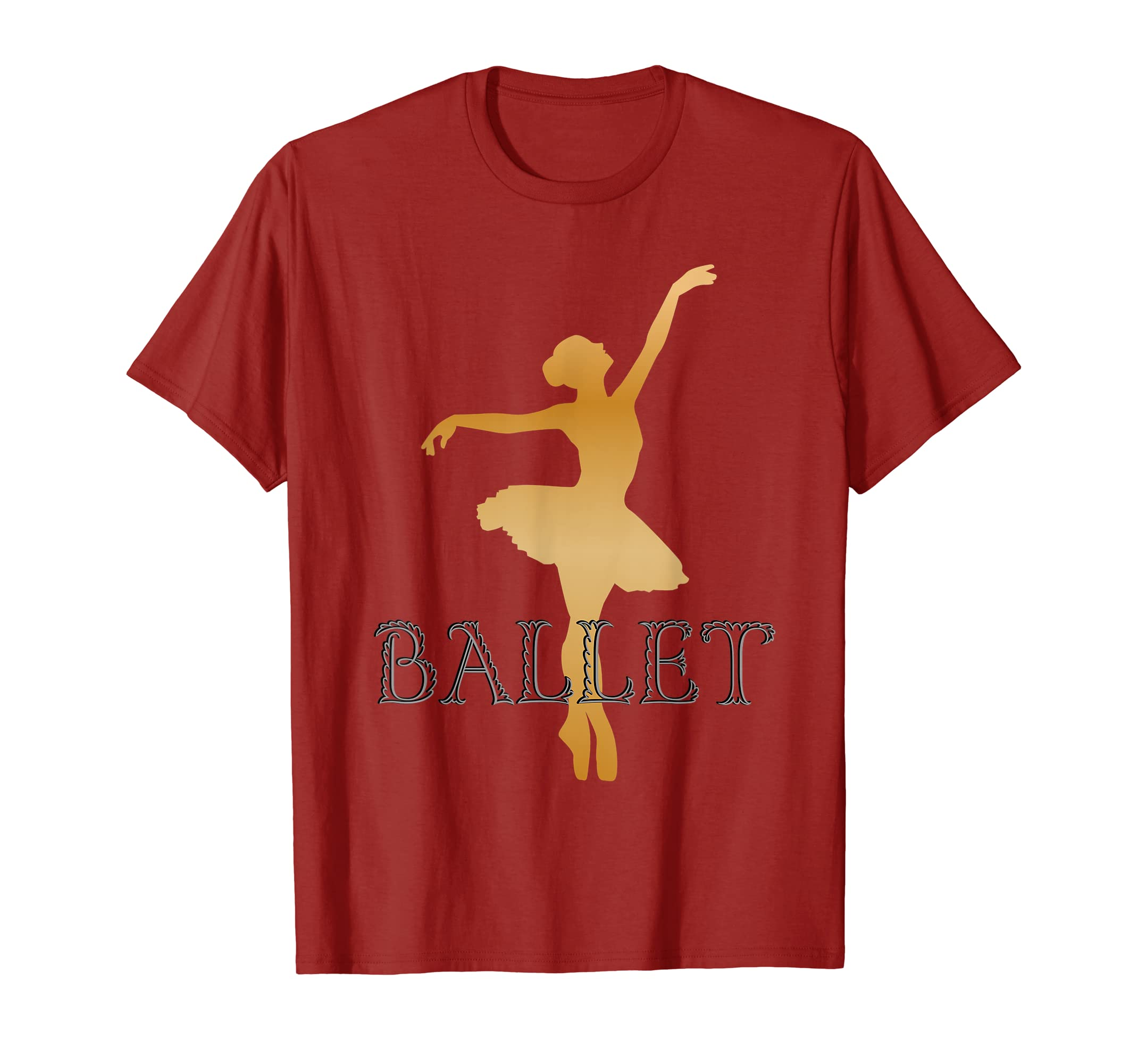 a10a3774b Amazon.com  Ballet Art T Shirt Kids Girls Ballerina  Clothing