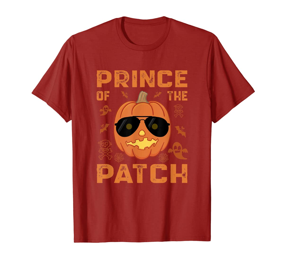 Pumpkin Prince of the Patch Group Family Halloween Costume T-Shirt-Men's T-Shirt-Red