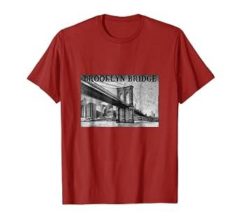 0a55700c Amazon.com: Brooklyn Bridge T-Shirt NYC Connecting Manhattan to ...