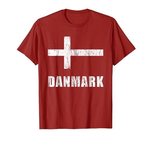 new product 537a6 506d2 Amazon.com: Denmark Flag National Team T-Shirt Danish Jersey ...