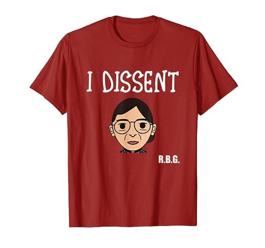c9211a96 Amazon.com: I Dissent RBG T Shirt Ruth Bader Ginsburg Gift Shirt ...