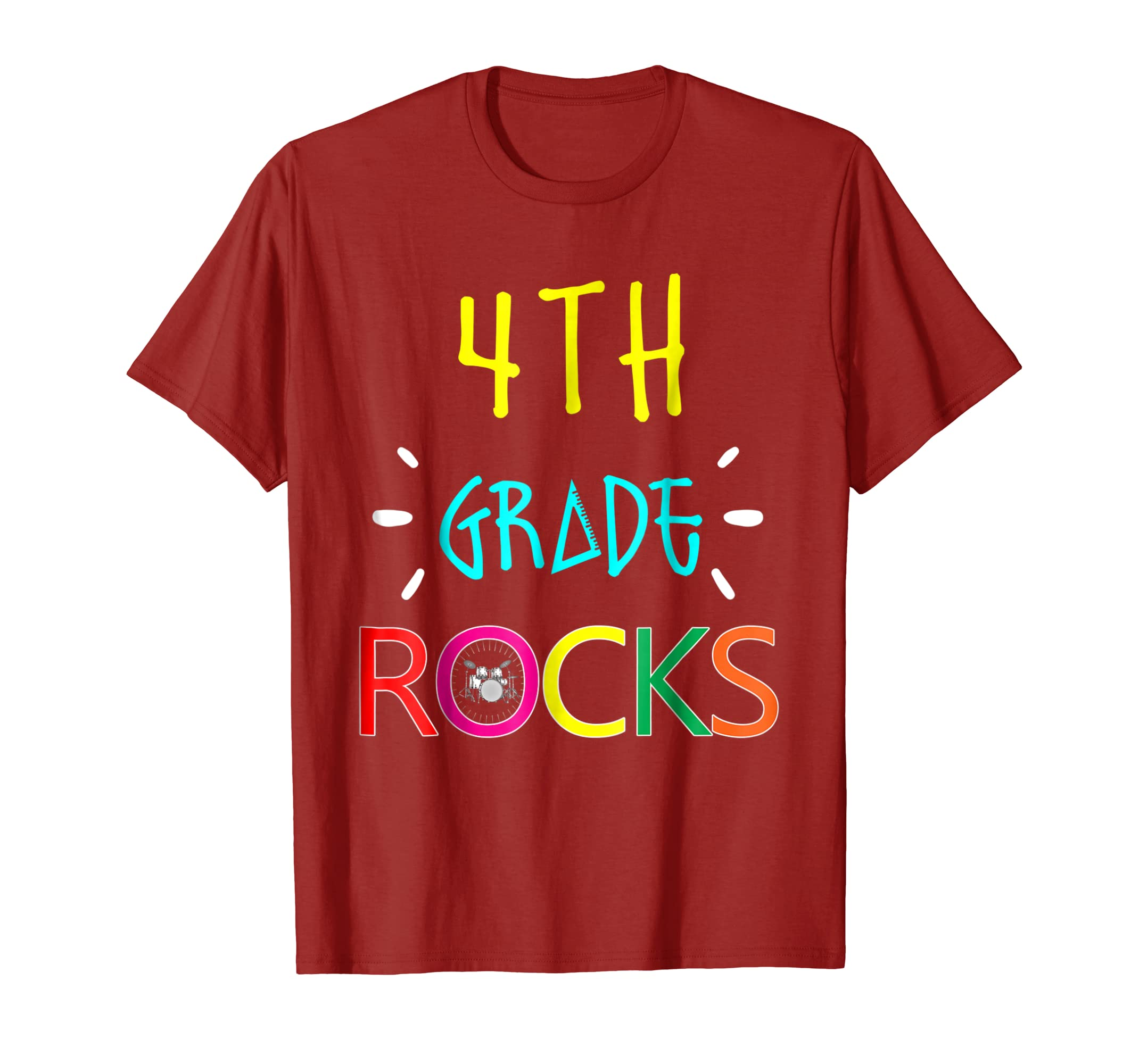 Awesome 4th Grade Rocks Gift T shirt Funny Back To School-mt