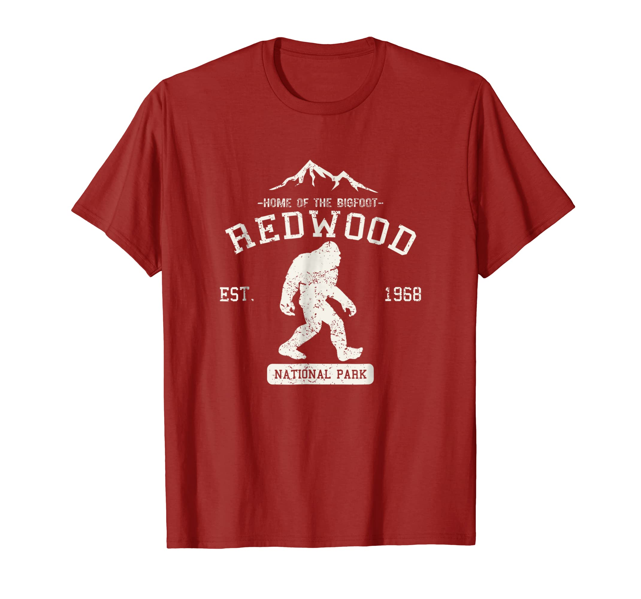 c41a03ffd Amazon.com: Redwood National Park Shirt Bigfoot T-shirt: Clothing
