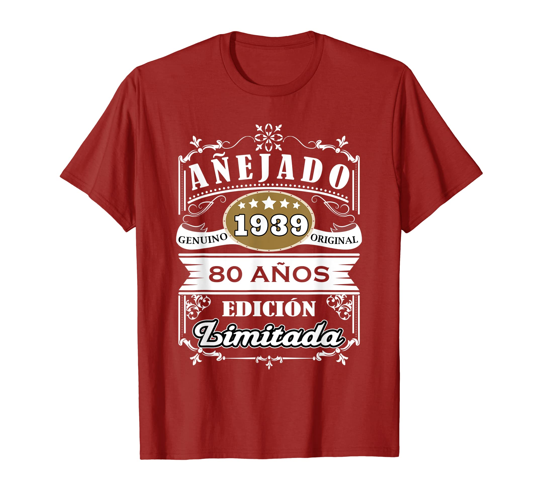 Mens Camisa Hombre Cumpleanos 80 - 1939 80 Anos Original Anejado