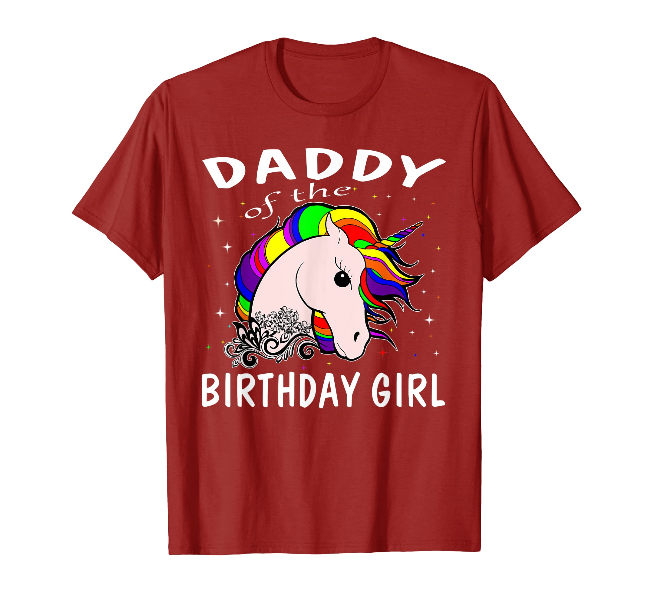 a7c4c8ff Amazon.com: Daddy Of The Birthday Girl Unicorn T-Shirt Gifts Dad Father:  Clothing