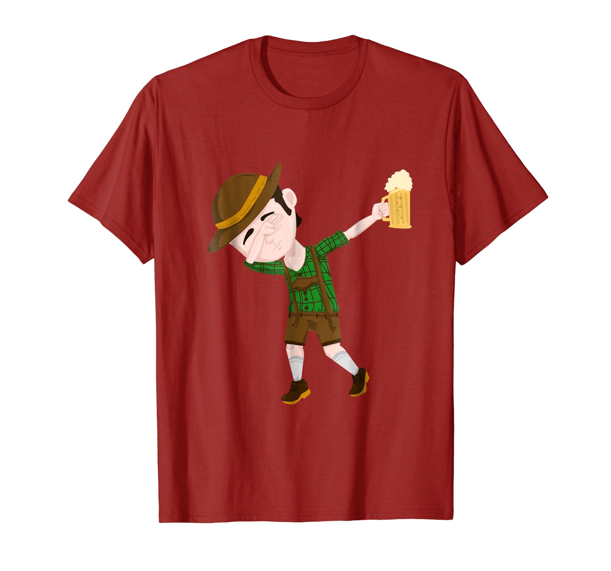 Dab Dance Shirt, Oktoberfest Lederhosen Tshirts for Men-AZP