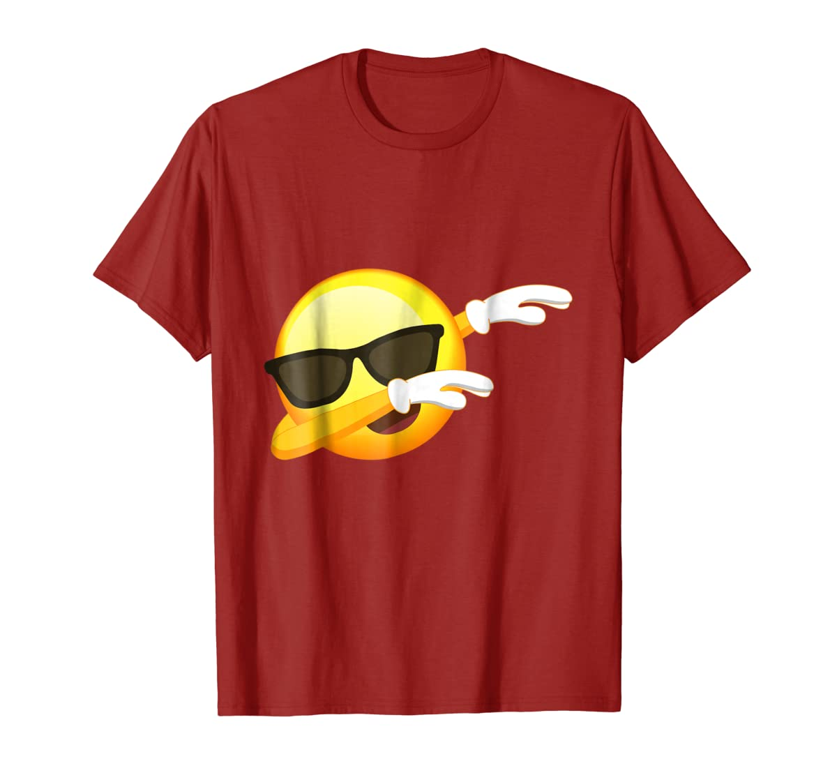 Funny Dabbing Emoji Shirt - Cool Emoji Dab T-Shirt-Men's T-Shirt-Red