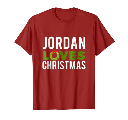 3fd2fa24cb7c Image Unavailable. Image not available for. Color  Jordan Loves Christmas T- Shirt ...