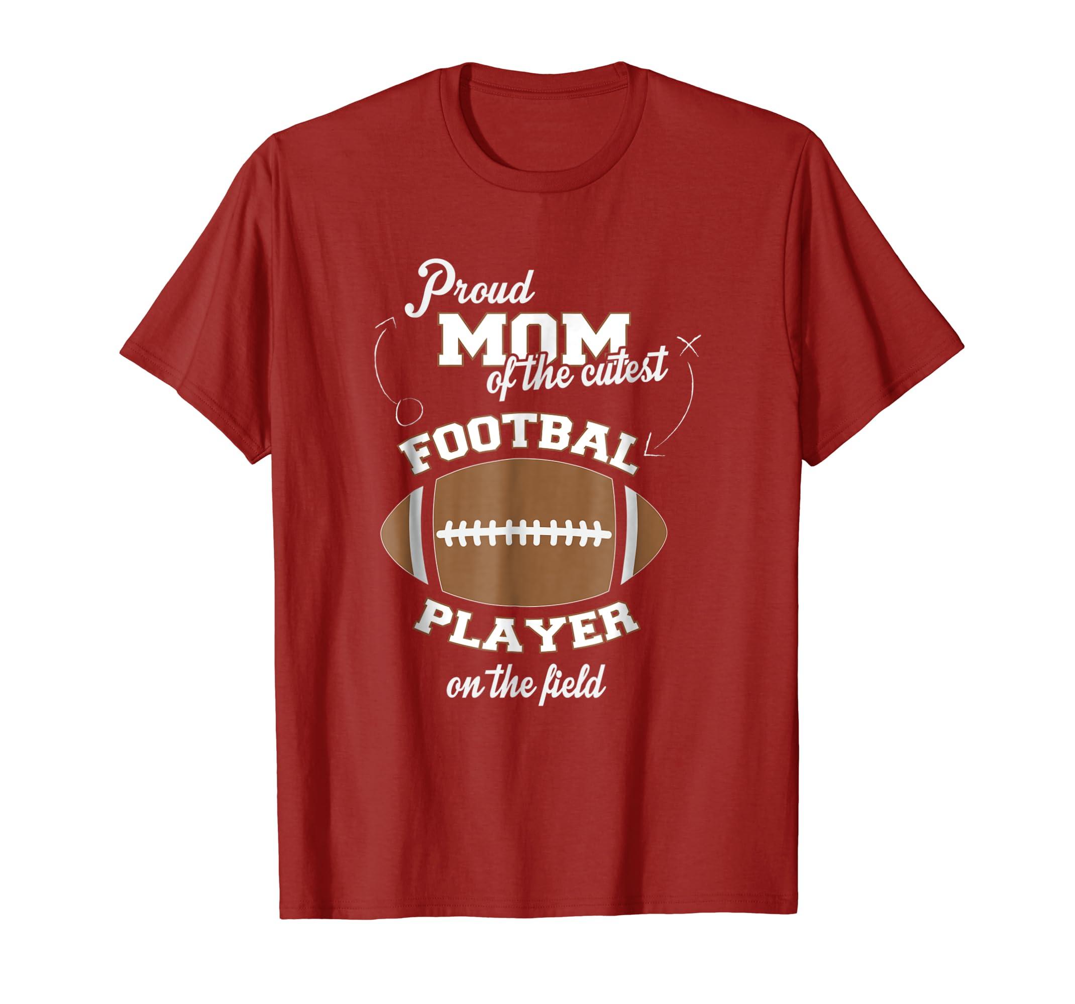 4e71a47d Amazon.com: Proud Football Mom Shirt: Clothing