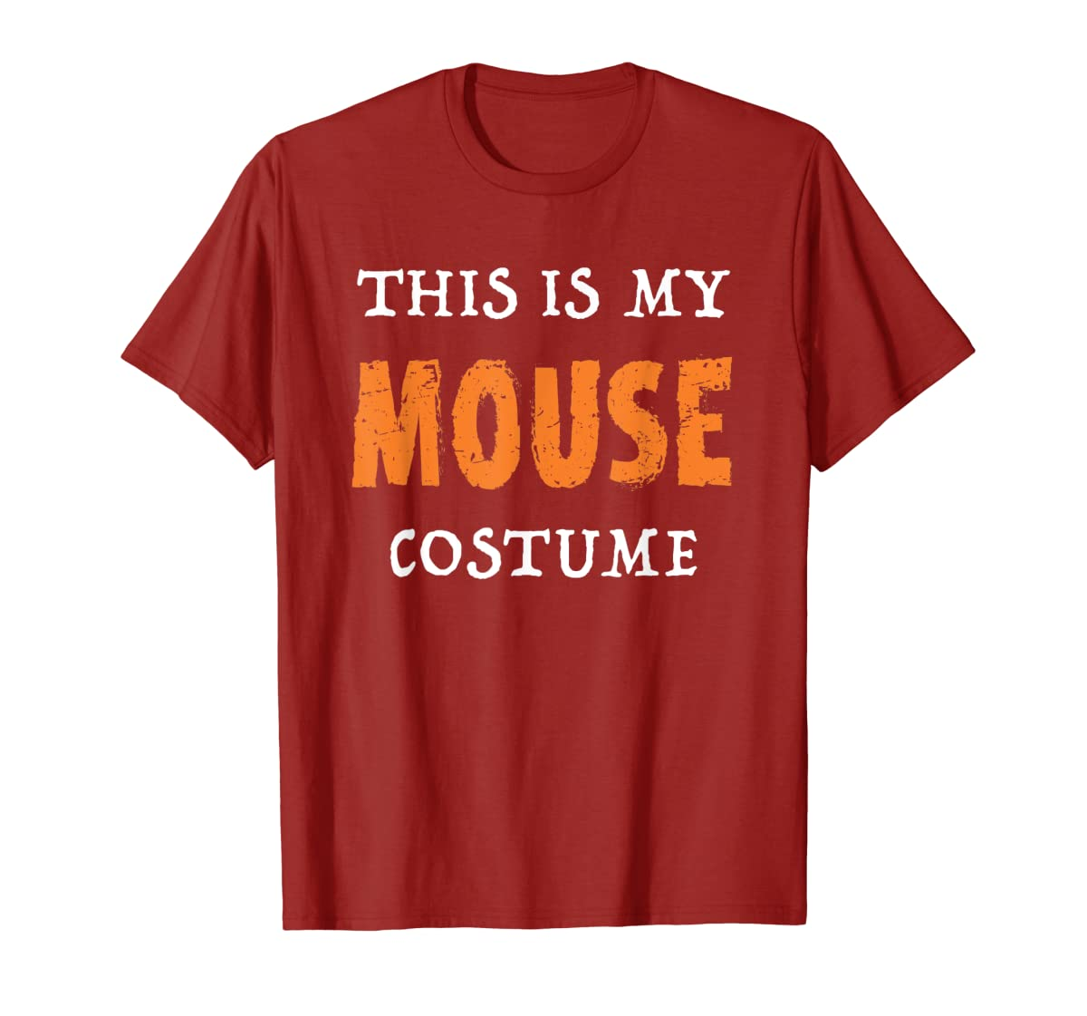 Funny This Is My Mouse Costume Halloween  T-Shirt-Men's T-Shirt-Red