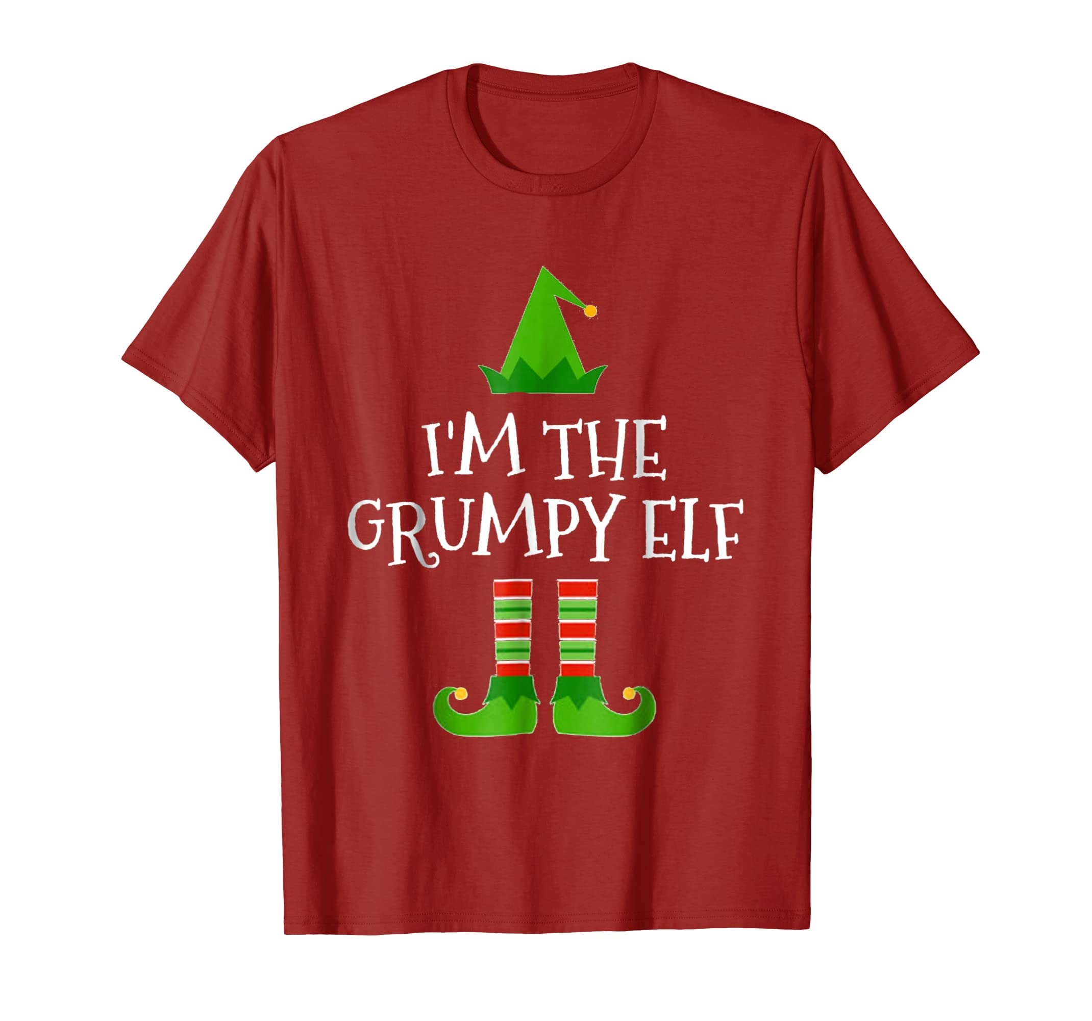ccbba29e9 Amazon.com: I'm The Grumpy Elf Matching Family Group Christmas T Shirt:  Clothing
