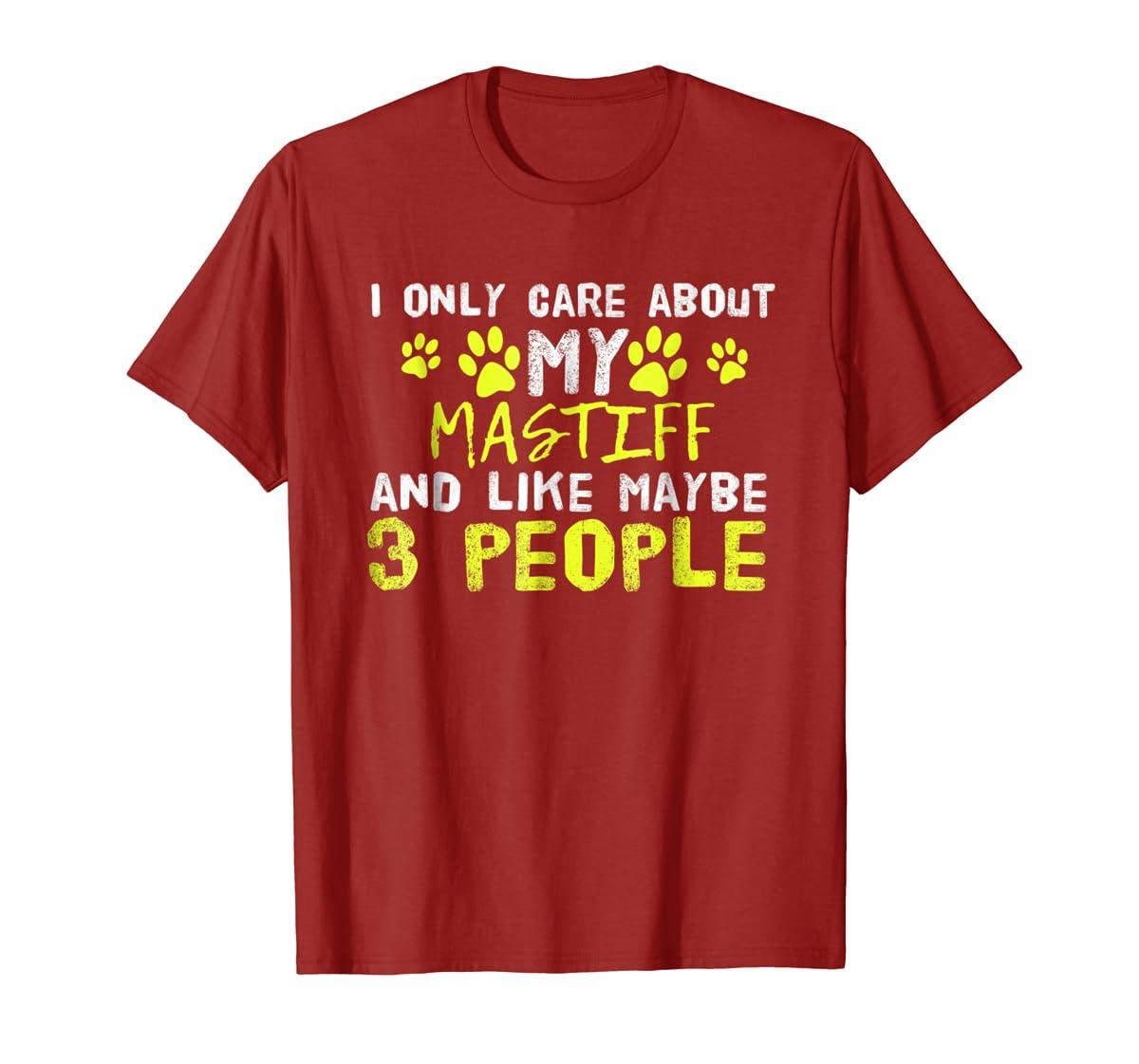 Mastiff Dog Shirt Introvert Love My Dog Tee-Men's T-Shirt-Red