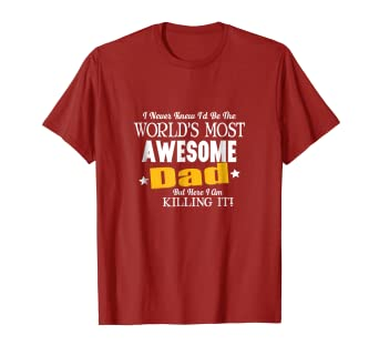 aecf8636 Image Unavailable. Image not available for. Color: Mens Funny Awesome Dad  Here I Am Killing It T-Shirt