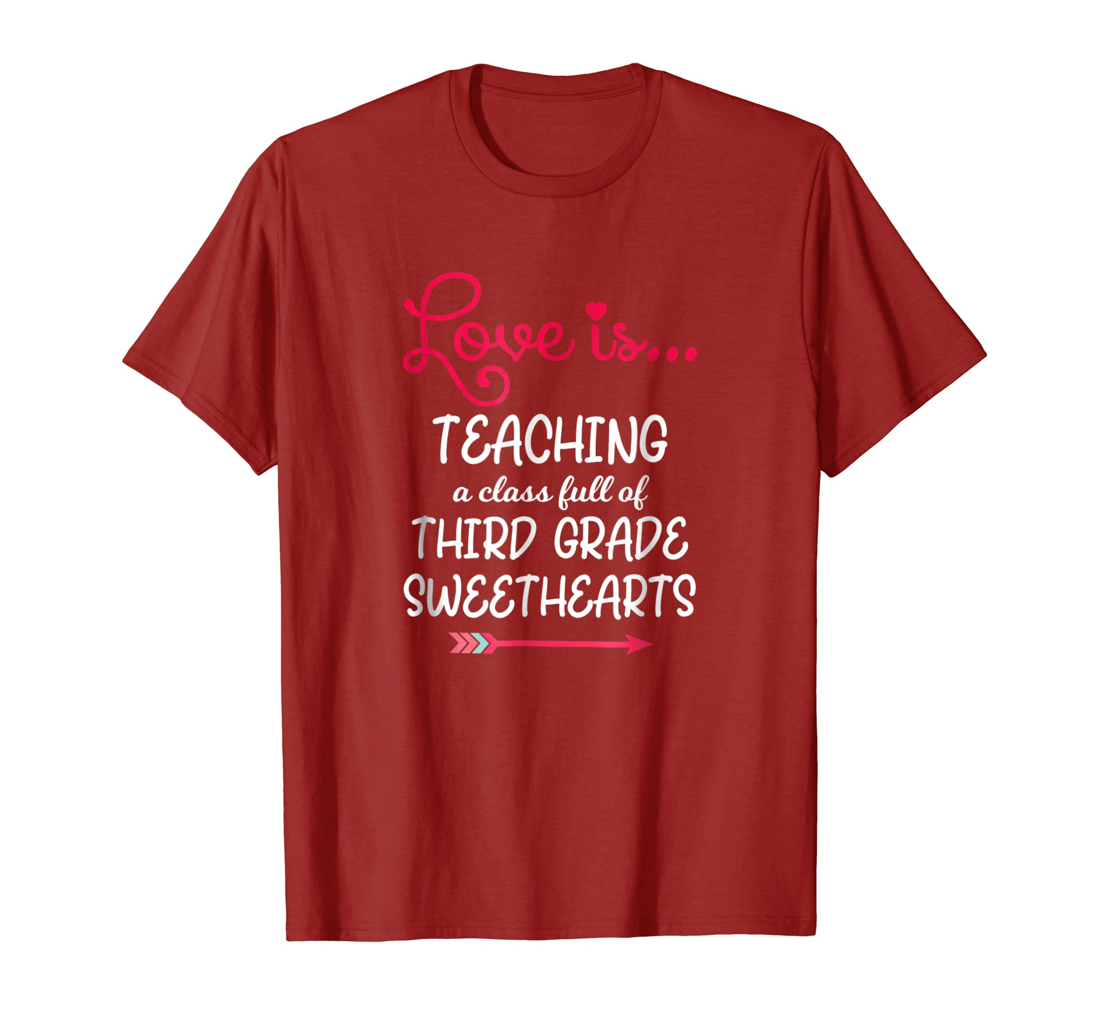 Teacher Valentines Day Shirt Third Grade Sweethearts-Teesml