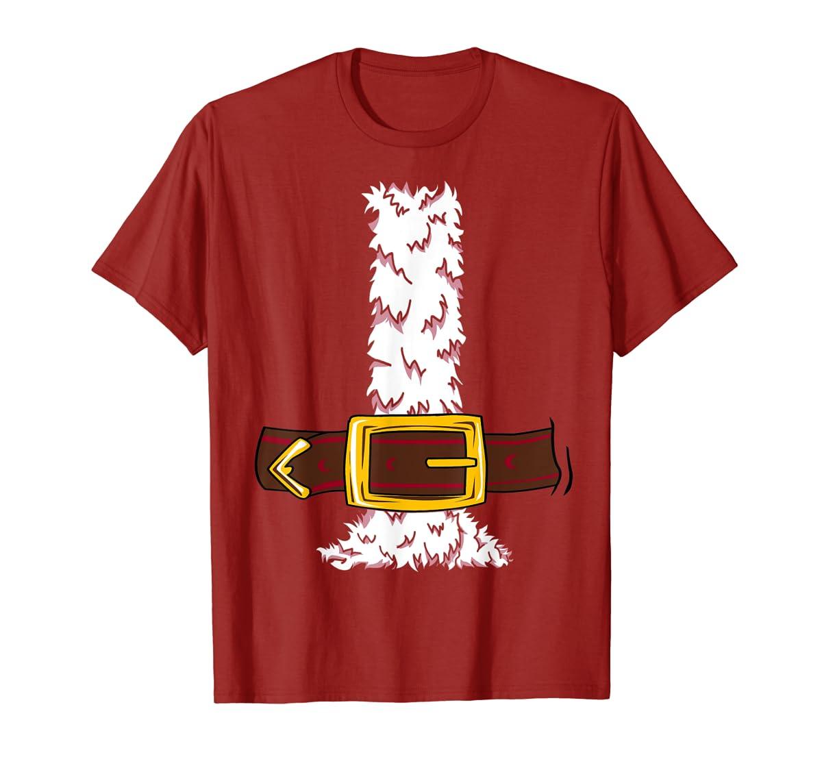 Funny Christmas gift for boys girls men women Santa costume T-Shirt-Men's T-Shirt-Red