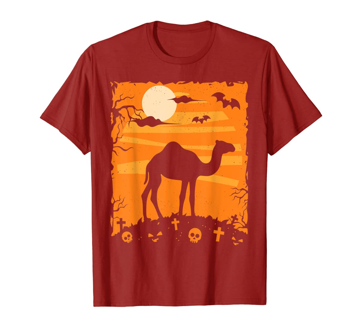 Camel Halloween Costume Animal Funny Pumpkin Outfit Gift T-Shirt-Men's T-Shirt-Red