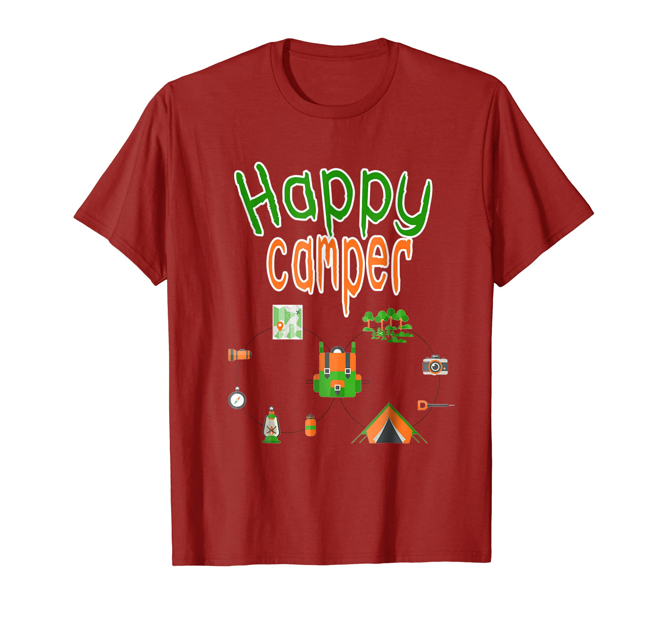 Happy Camper - Camping T-Shirt for Men, Women, and youth-mt