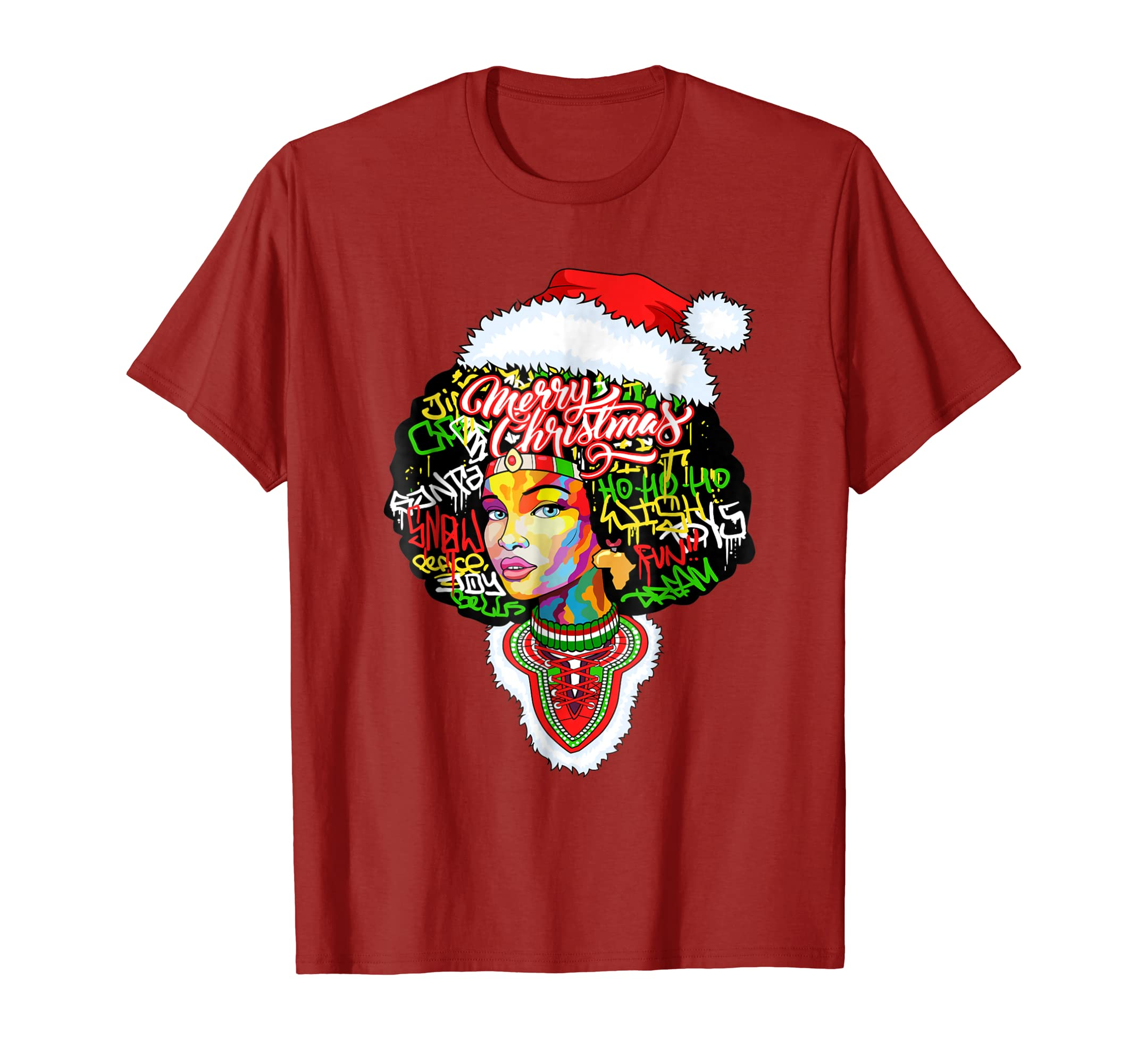 Christmas Dashiki Melanin Afro Woman T Shirt-SFL