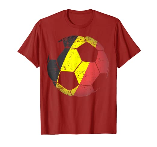 51284dc7f Amazon.com  Belgium Soccer Ball Flag Jersey Shirt - Belgian Football ...