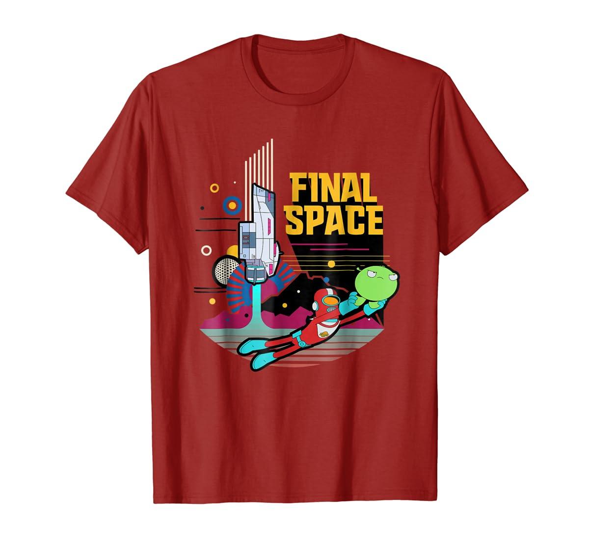 Final Space Retro Style T-shirt-Men's T-Shirt-Red