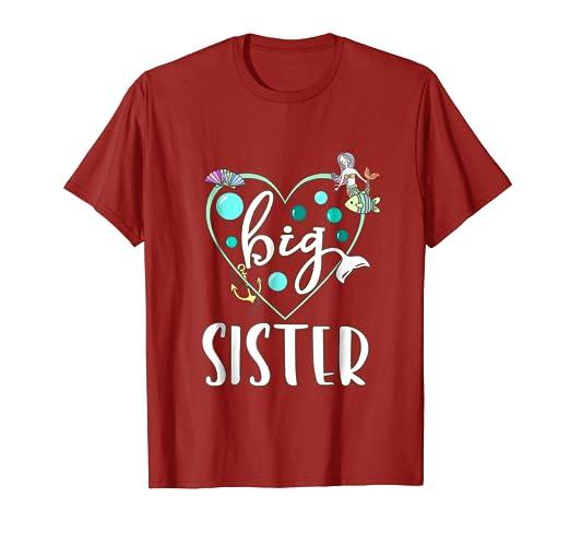 9de605a13e2 Amazon.com  Big Sis Lil Little Sister T-shirt
