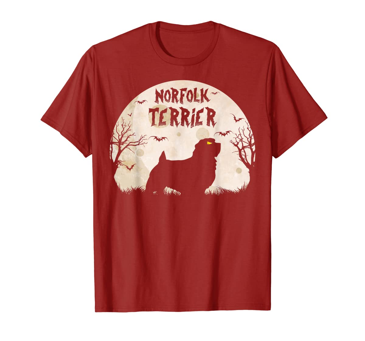 Halloween Horror Norfolk Terrier  T-Shirt-Men's T-Shirt-Red