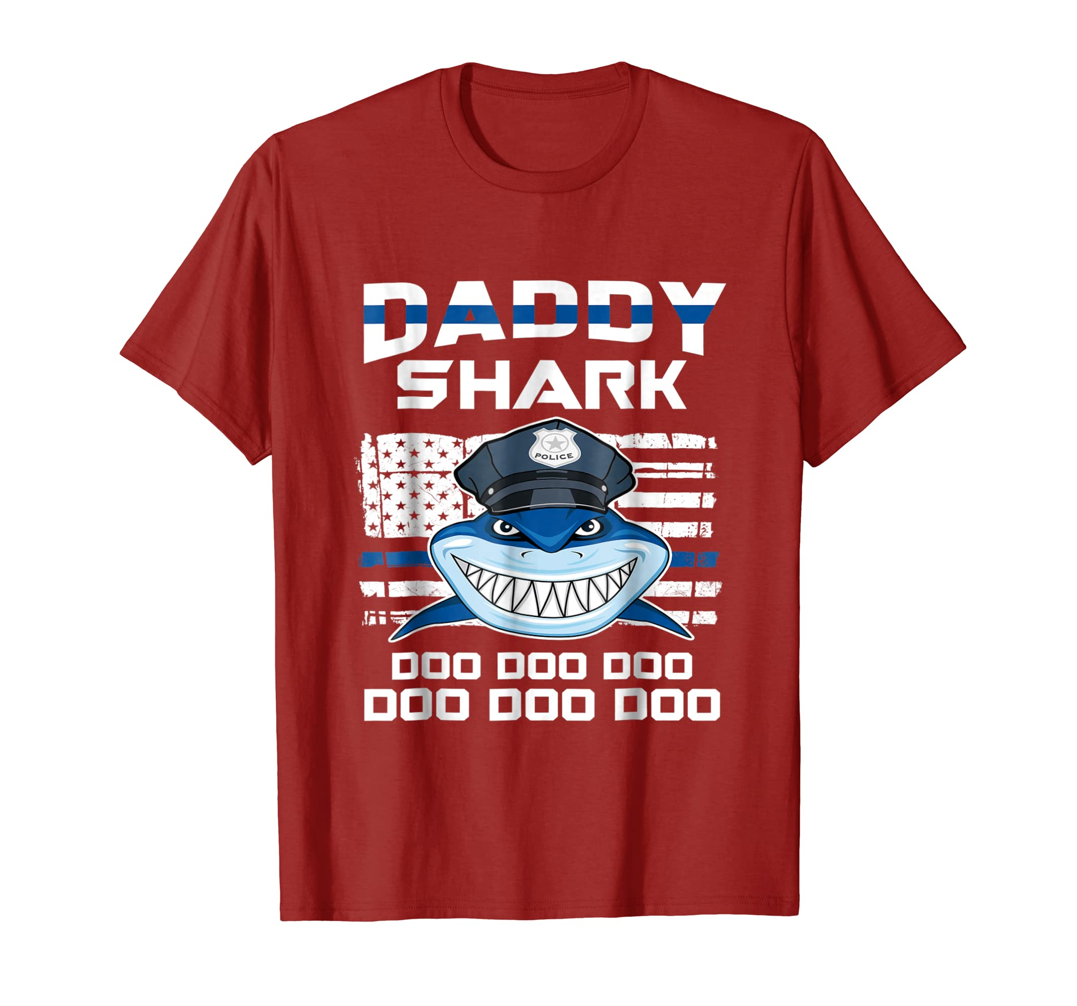 be0f743c939 Amazon.com  Police Daddy Shark Doo Doo Doo T-Shirt  Clothing