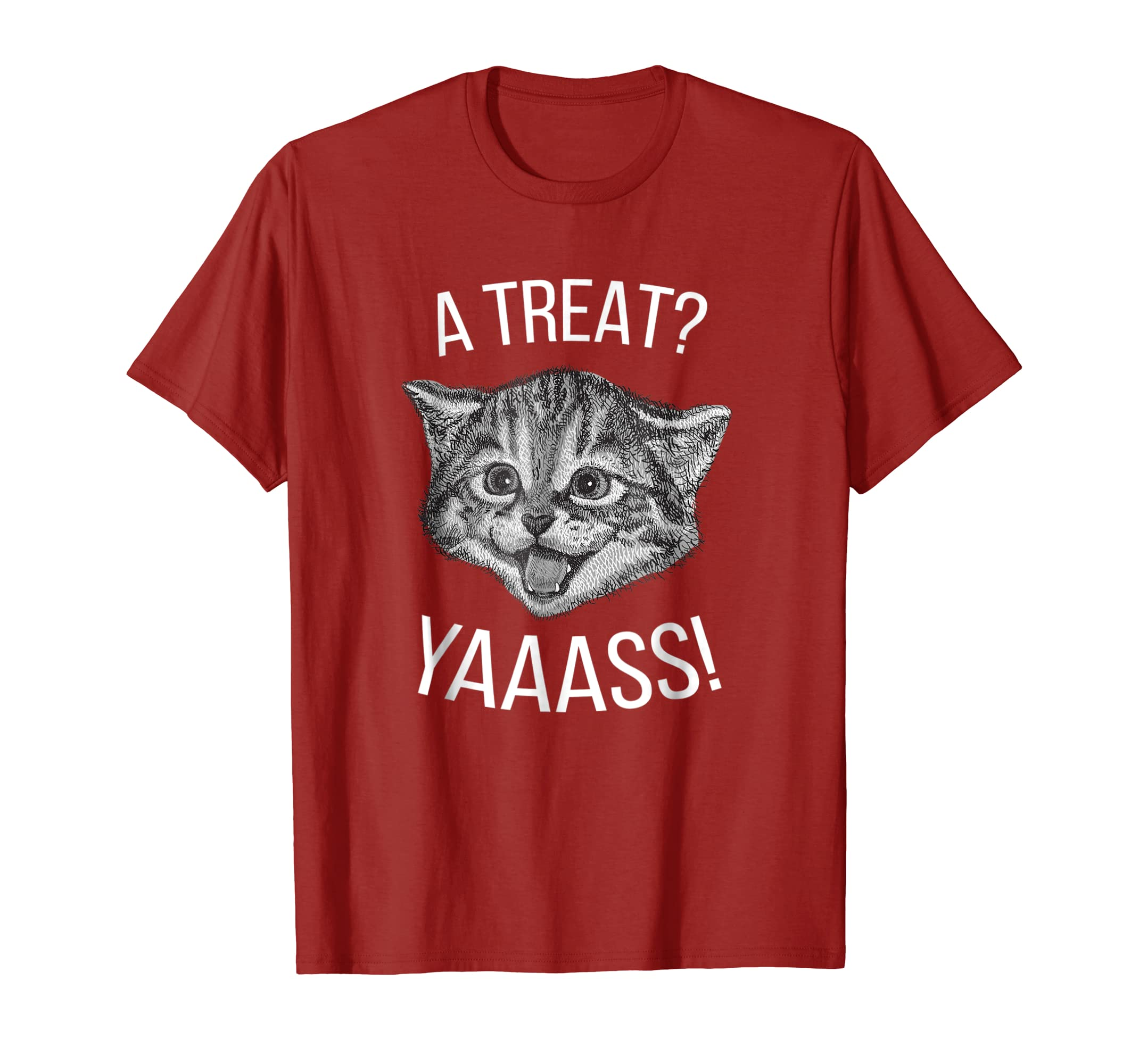 A Treat? Yaaass Cat T-Shirt-mt