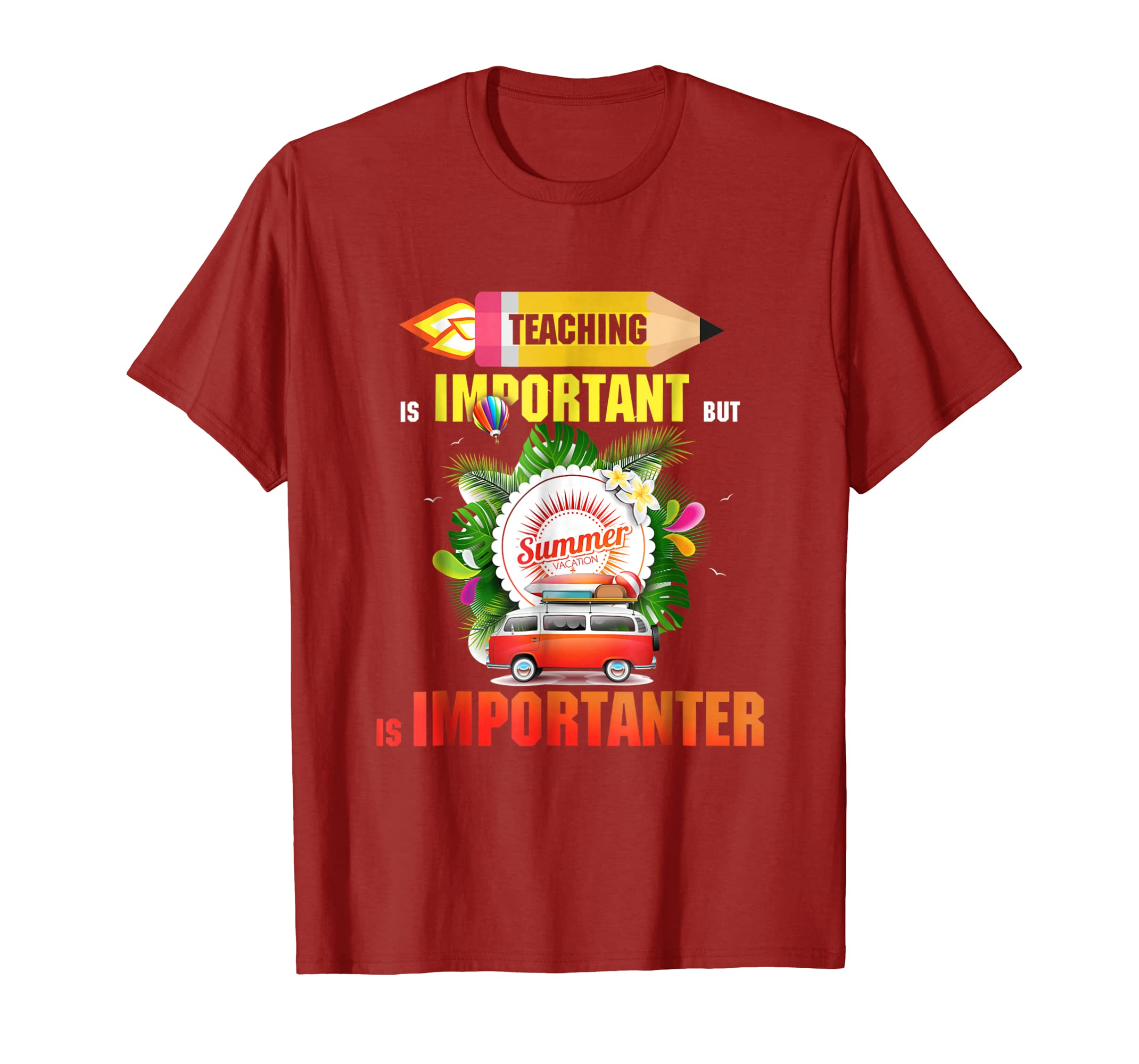 f11fae40b99a Teaching is Important But Summer Vacation T-Shirt-alottee gift - Alottee