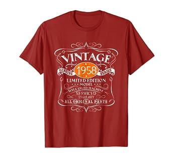 Amazon Vintage 1958 60th Birthday All Original Parts Gift T