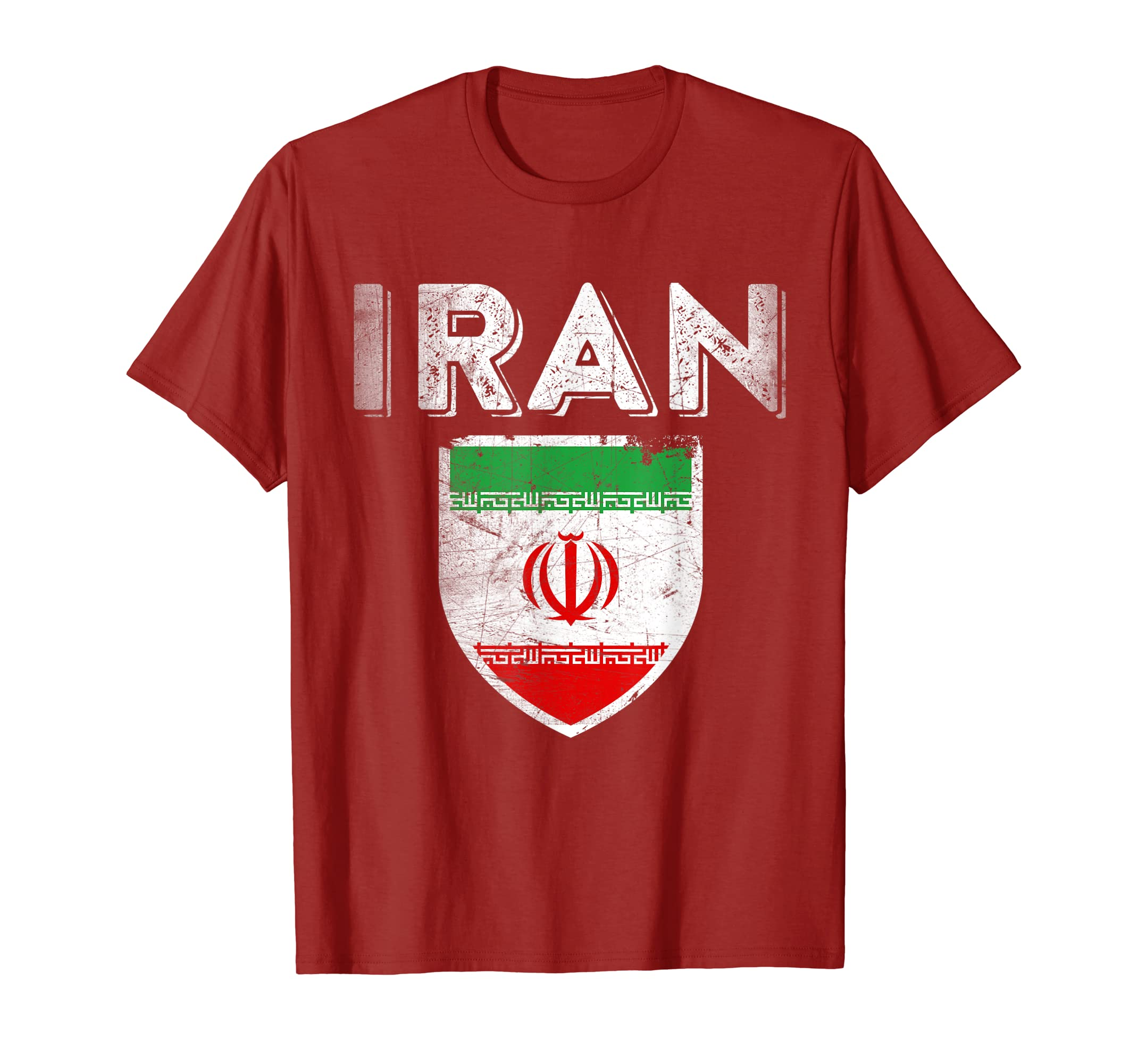 2b87b9940 Amazon.com  Iran Tee Iranian Jersey T-Shirt Persian Flag Shirt Soccer   Clothing